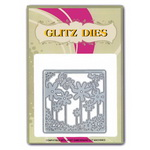 Decorative Cutting Die 8.6x8.6 cm flower frame