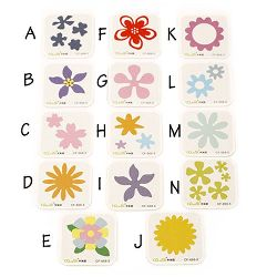 Cutting Dies from 9 mm to 43 mm Mixed Flowers