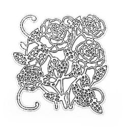 Cuttind Die for Decoration  7.7x8.2 cm flowers