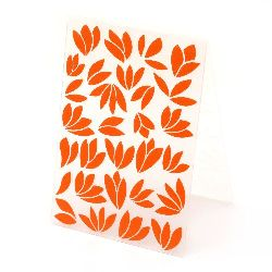 Embossing folder 10.5x14.8 cm - list