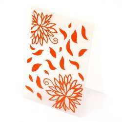 Папка за релеф 10.5x14.8 см -цветя и листа
