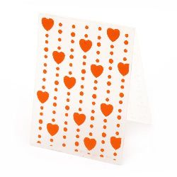 Embossing folder 7.5x10 cm - hearts