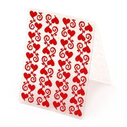 Embossing Folder 7.5x10 cm - hearts with ornament