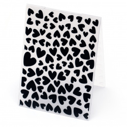 Embossing folder 14.8x10.5 cm - hearts