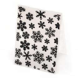 Папка за релеф 14.8x10.5 см -снежинки