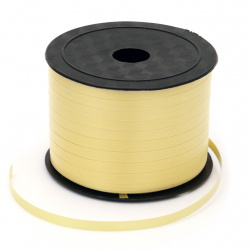Ribbon Roll, DIY Decoration, Craft, Wedding 5 mm yellow -91 meters