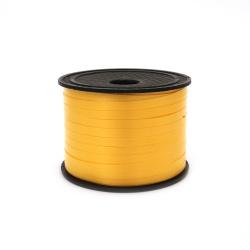 Лента панделка 5 мм жълта -91 метра