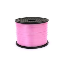 Лента панделка 5 мм розова -91 метра