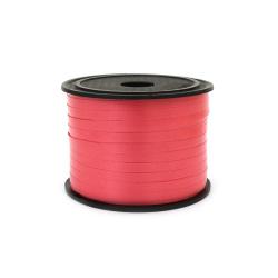 Лента панделка 5 мм червена -91 метра