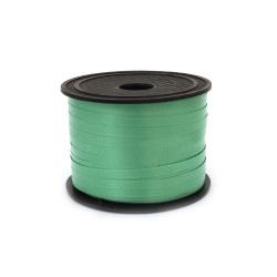 Лента панделка 5 мм зелена светло -91 метра