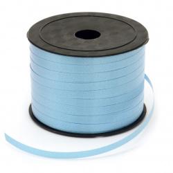 Лента панделка 5 мм синя тъмно -91 метра