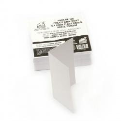 Bază de carton Carton 250 gr 10x10 cm culoare încrețită alb -100 bucăți