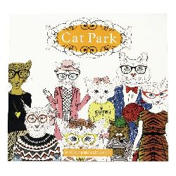 Anti-stress coloring book 24x24.5 cm 24 pages - Cat Park