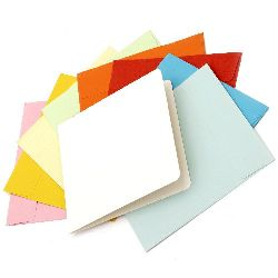 Card base set 13x13 cm with envelope 14.2x14.6 mm ASSORTED