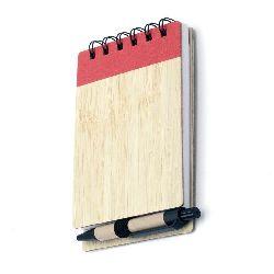 Σημειωματάριο 70 φύλλα 9x15 cm με στυλό και εξώφυλλο από ανακυκλώσιμο υλικό