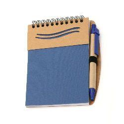 Σημειωματάριο 70 φύλλα 12,2x16 cm  με στυλό και εξώφυλλο από ανακυκλώσιμο υλικό
