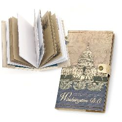 DIY Notepad with Washington Button Vintage 11x18.5 cm ± 70 sheets