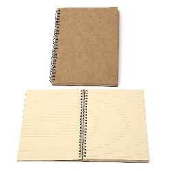 Notepad for decoration spiral 80 sheets A5 -14.8x21x1.3 cm