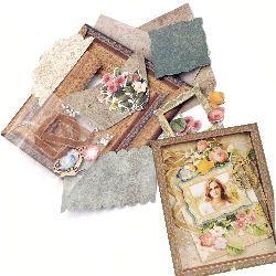 DIY Cardboard Photo Frame Set, 15x17.7cm Vintage