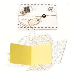DIY Scrapbook Album Decoration 15.9x11.9cm with 8 pages 13.7x11.2cm Letter