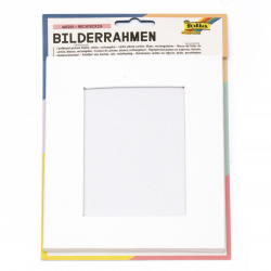 Картонена рамка правоъгълна 16.6x21.6 см FOLIA бяла -1 брой