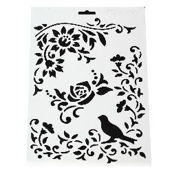 Plastic stencil for cutting and drawing DIY Decorative Painting Stencil, 21x31 mm, motif 5