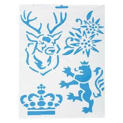 Plastic stencil for cutting and drawing DIY Decorative Painting Stencil 21x31 mm motif 2