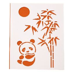 Plastic stencil for cutting and drawing Panda DIY Decorative Painting Stencil, 15x21mm