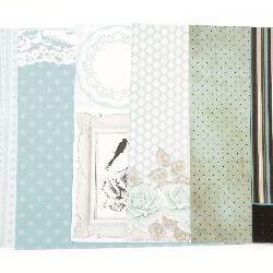 Дизайнерска хартия за скрапбукинг 8 inch (20.3x20.3 см) 6 дизайна x 2 листа