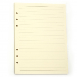 Paper Pages for Album or Notebook 45 A5 143x212 cm of white with rows