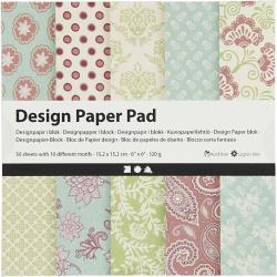 Дизайнерска хартия за скрапбукинг Purple 6 inch (15.2x15.2 см) 120 гр Creativ 10 дизайна x 5 листа -50 листа