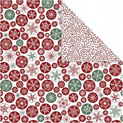 Χαρτί scrapbooking διπλής όψης Ice Crystals And Dots 30,5x30,5 cm από Vivi Gade 180 g Creativ -5 φύλλα