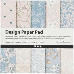 Дизайнерска хартия за скрапбукинг Rose 6 inch (15.2x15.2 см) 120 гр Creativ 10 дизайна x 5 листа -50 листа