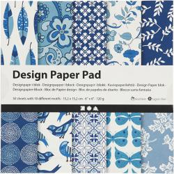 Дизайнерски блок 6 inch (15.2x15.2 см) 120 гр Creativ 10 дизайна x 5 листа -50 листа