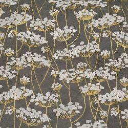 Непалска хартия 60 гр ръчна 49x74 см Printed Twigs - сива със злато