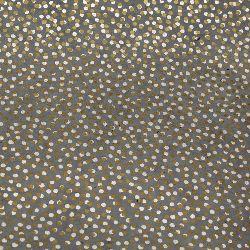 Непалска хартия 60 гр ръчна 50x76 см Printed Random Dots - сива със сребро и злато