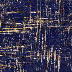 Непалска хартия 60 гр ръчна 51x76 см Brush Strokes - синя със злато
