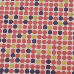 Дизайнерска индийска хартия 120 гр за скрапбукинг, арт и крафт 56x76 см Gold Pink Violet HP05