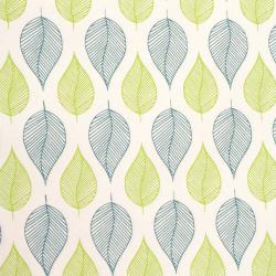 Hârtie indiană de designer 120 g pentru scrapbooking, artă și ambarcațiuni 56x76 cm BLUE Green Leaf on HP13