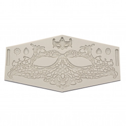 Silicone mold /shape/ 245x130x12 mm lace - mask and ornaments