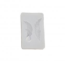 Silicone mold /shape/ 30x47x9 mm pendants angel wings