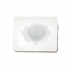 Silicone mold /shape/ 43x34x15 mm 3 D lotus flower for cake decorations, DIY candle, soap making