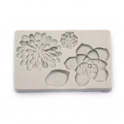 Силиконов молд /форма/ 138x90x16 мм 3D цветя