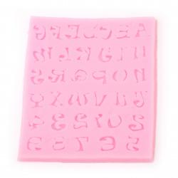 Matriță / formă din silicon / 95x105x7 mm litere și cifre