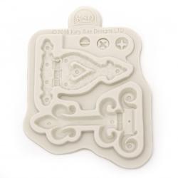 Silicone mold /shape/ 90x120x10 mm retro key