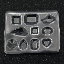Καλούπι Σιλικόνη  σχήμα /ΜΙΞ75,5x60,5x7,6 mm