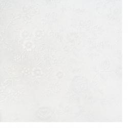 Картон перлен едностранен релефен с цветя 250 гр/м2 А4 (21x 29.7 см) бял -1 брой