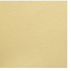 Χαρτόνι περλέ μονής όψης ανάγλυφο με λουλούδια 210 g / m2 A4 (21x 29,7 cm) χρώμα κίτρινο -1 φύλλο