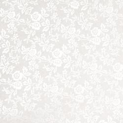 Χαρτί 120 g / m2 ασημί ανάγλυφο με τριαντάφυλλα A4 (21 / 29,7 cm) -1 φύλλο