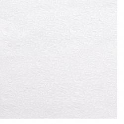Χαρτί περλέ ανάγλυφο με μοτίβο 120 gr / m2 A4 (297x210 mm) μονής όψης λευκό -1 τεμάχιο